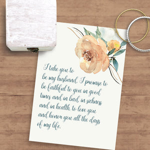 Catholic Wedding Vows for Wife | Printable
