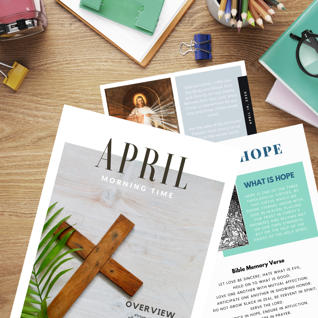 April Morning Time Printable