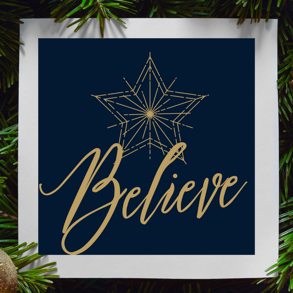 Believe Christmas Print | Printable