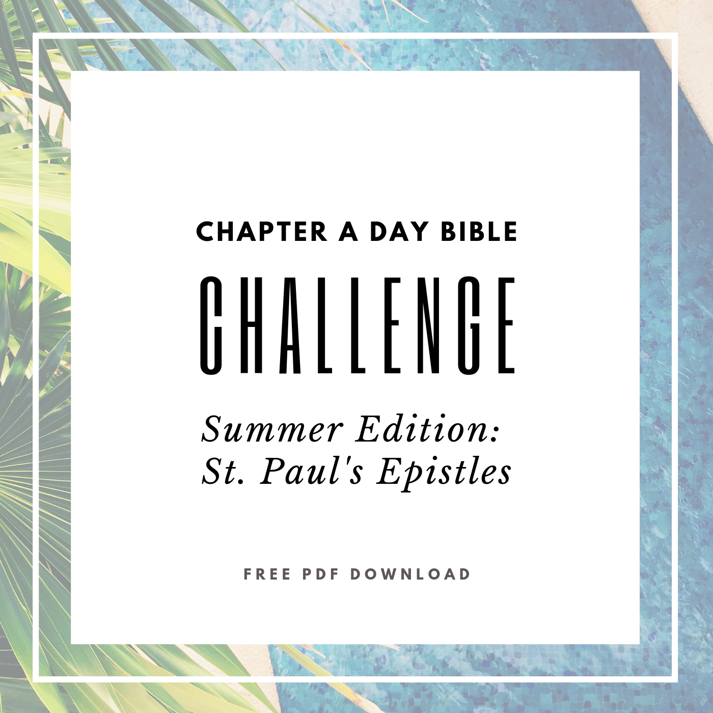 Chapter A Day Bible Challenge - Summer Edition