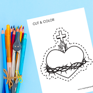 Sacred Heart Coloring Page | Printable