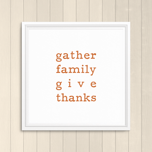 Give Thanks - Colorful Printable
