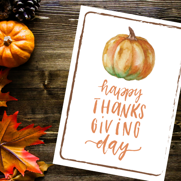 Happy Thanksgiving Day Print | Printable