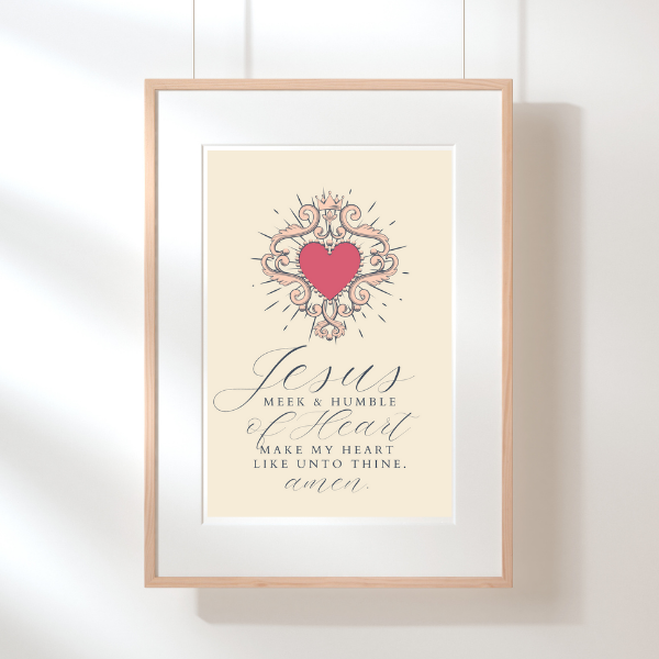 Jesus Meek & Humble of Heart | Printable