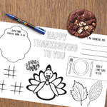 Kids Thanksgiving Place Mat | Printable