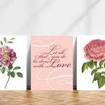 Let All Be Done With Love Trio of Printables