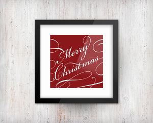 Merry Christmas Print | Printable