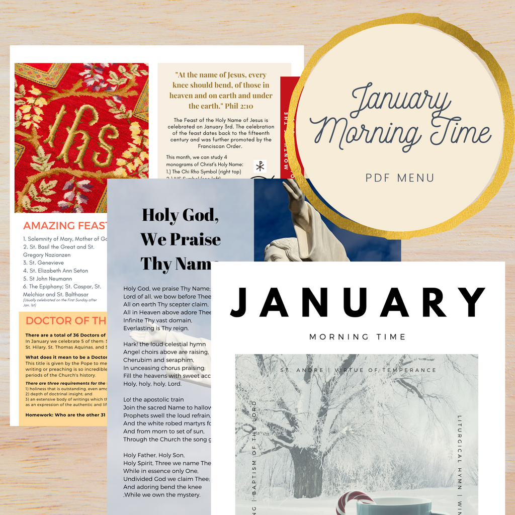 January Morning Time Printable