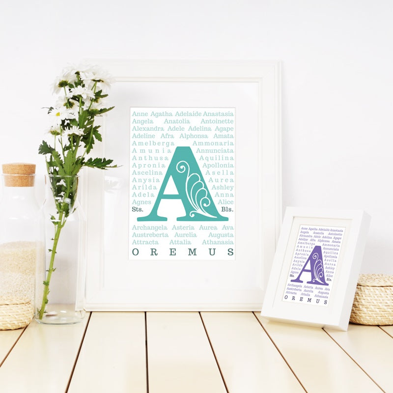Female Saints Printable - Letter A