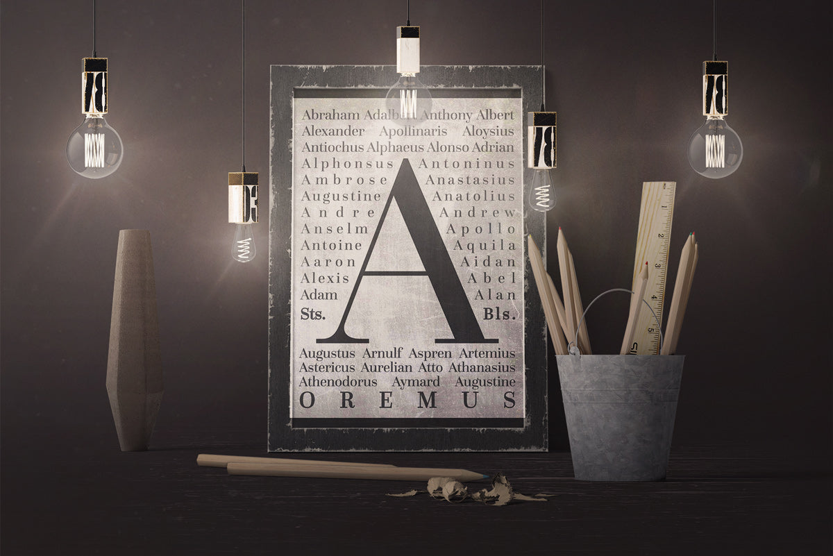 Masculine Saints Printable - Letter A