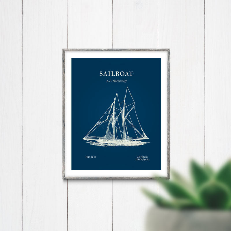 Sailboat Blueprint | Printable