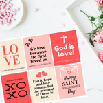 Valentine's Day Printable Cards - Red