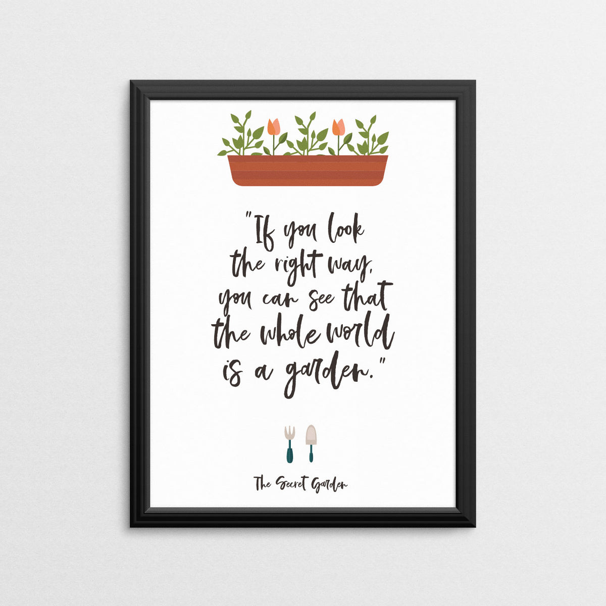 Secret Garden Quote Wall Prints And Digital Prints Ampersand
