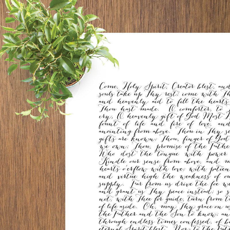 Come Holy Ghost, Creator Blest | Printable