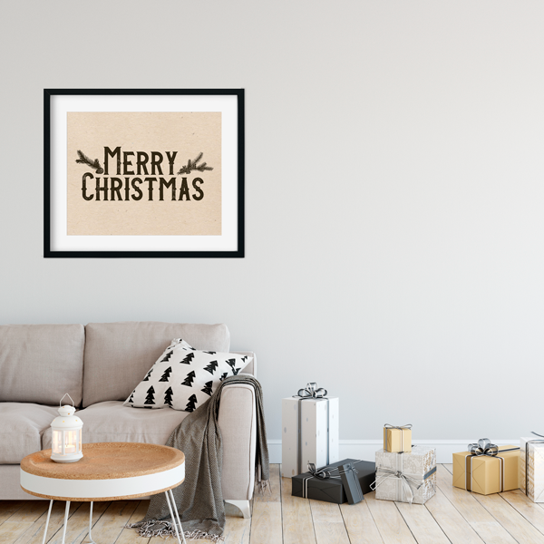 Vintage Merry Christmas Print  | Printable