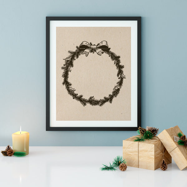 Vintage Wreath Print  | Printable