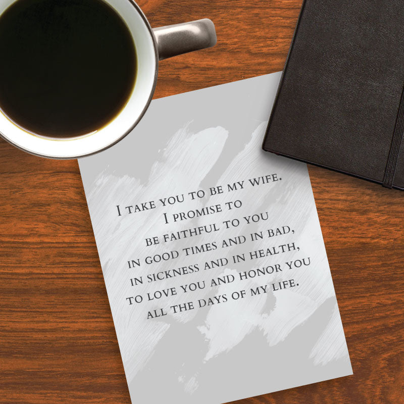 Catholic Wedding Vows for Husband | Printable