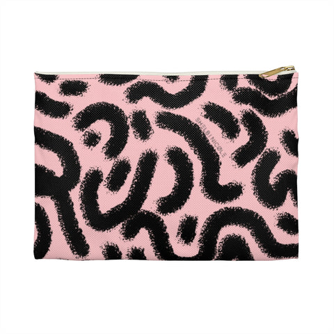Pink Squiggle Pouch by Shelbi Nicole