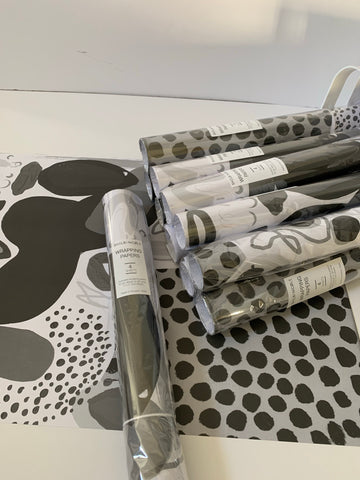 Black White Wrapping Paper by Shelbi Nicole