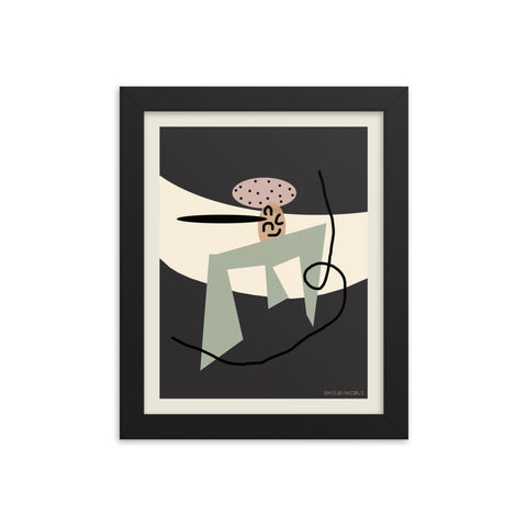 Greenie Framed Print by Shelbi Nicole