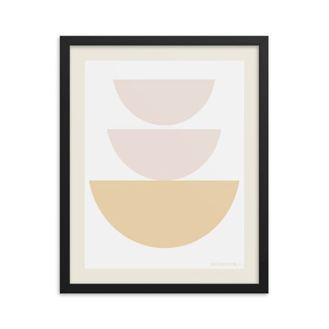 Bowl Stack Framed Print by Shelbi Nicole