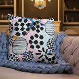 Pink Dotty Premium Pillow by Shelbi Nicole