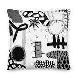Black + White Premium Pillow by Shelbi Nicole