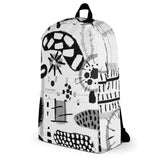 Black + White Backpack by Shelbi Nicole