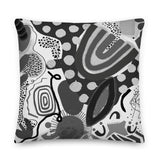 Black + White Microscope Premium Pillow by Shelbi Nicole