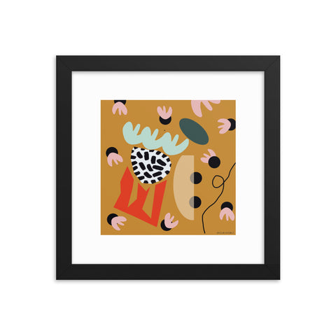 Burnt Orange Framed Print by Shelbi Nicole