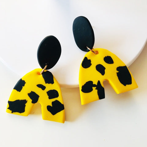 Shelbi Nicole Lellow Dotty Clay Earrings