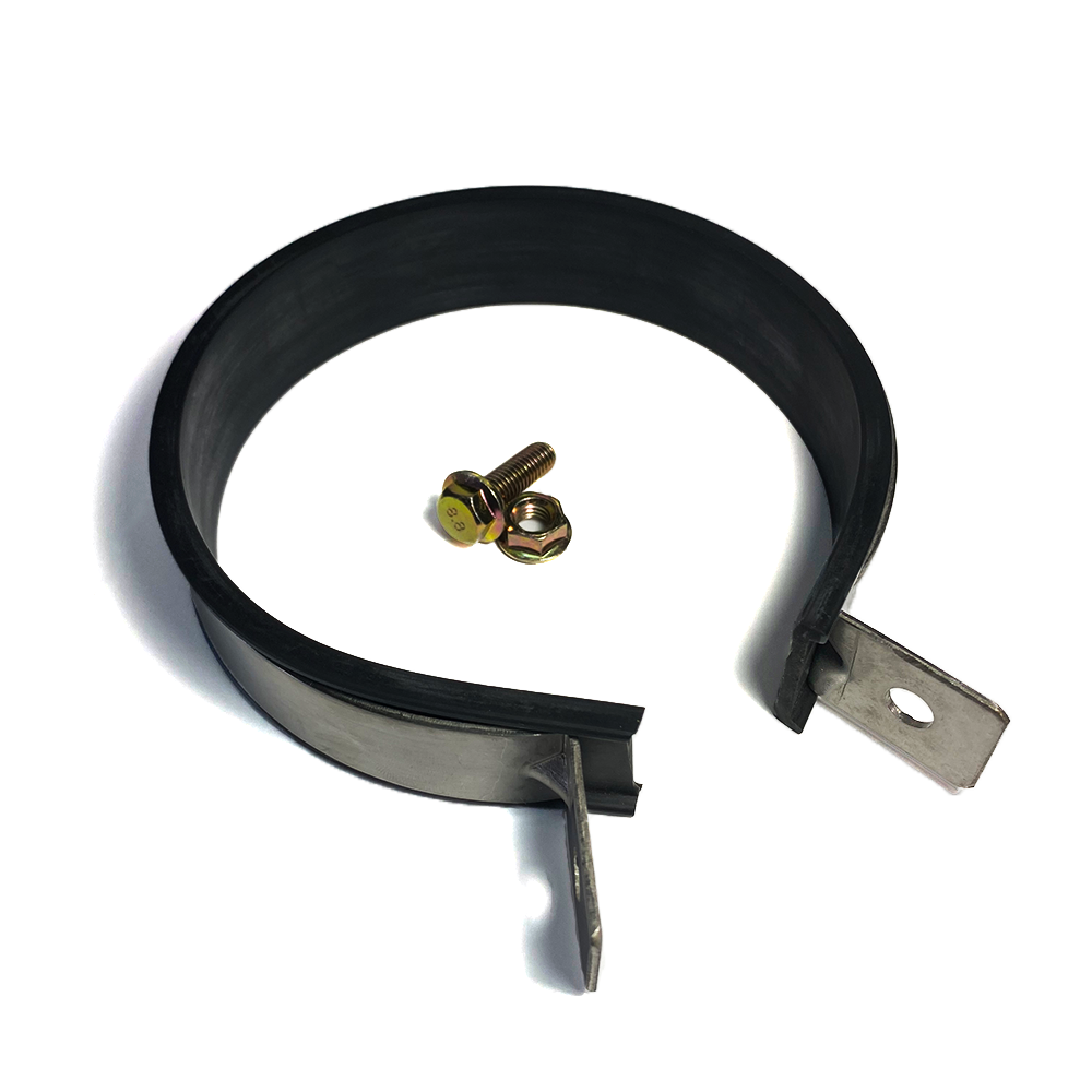 "Ticon Industries Muffler Strap with EPDM Rubber 6"" Canister - Stainless Steel"