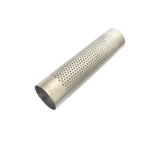 "2"" Titanium Perforated Punch Tube 8"" OAL 1mm/.039"""