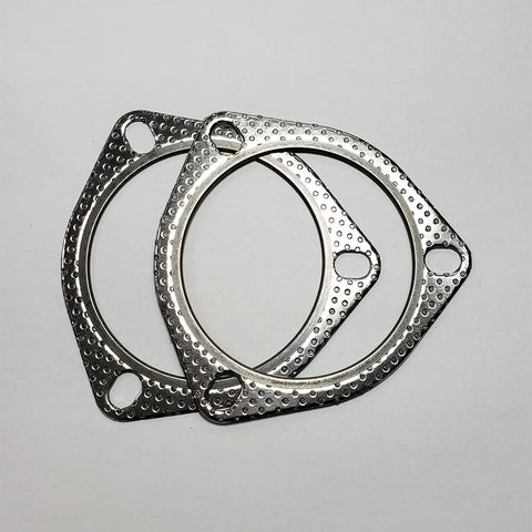 "3 Bolt MLSG High Temp Exhaust Gasket (3.5"" I.D.) 2 Pack"