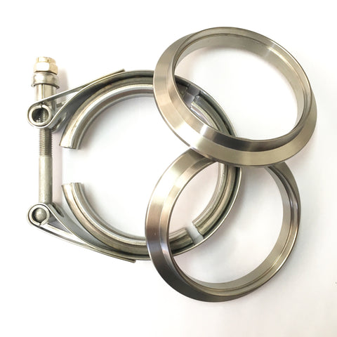 "3"" Titanium V-Band Clamp Assembly (2 Flanges & 1 Clamp)"