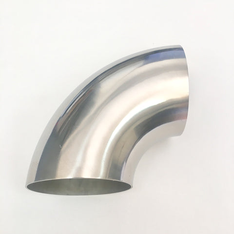 "2.5″ Titanium 90° Elbow  – 1.2D Radius – 1mm/.039"" Wall"