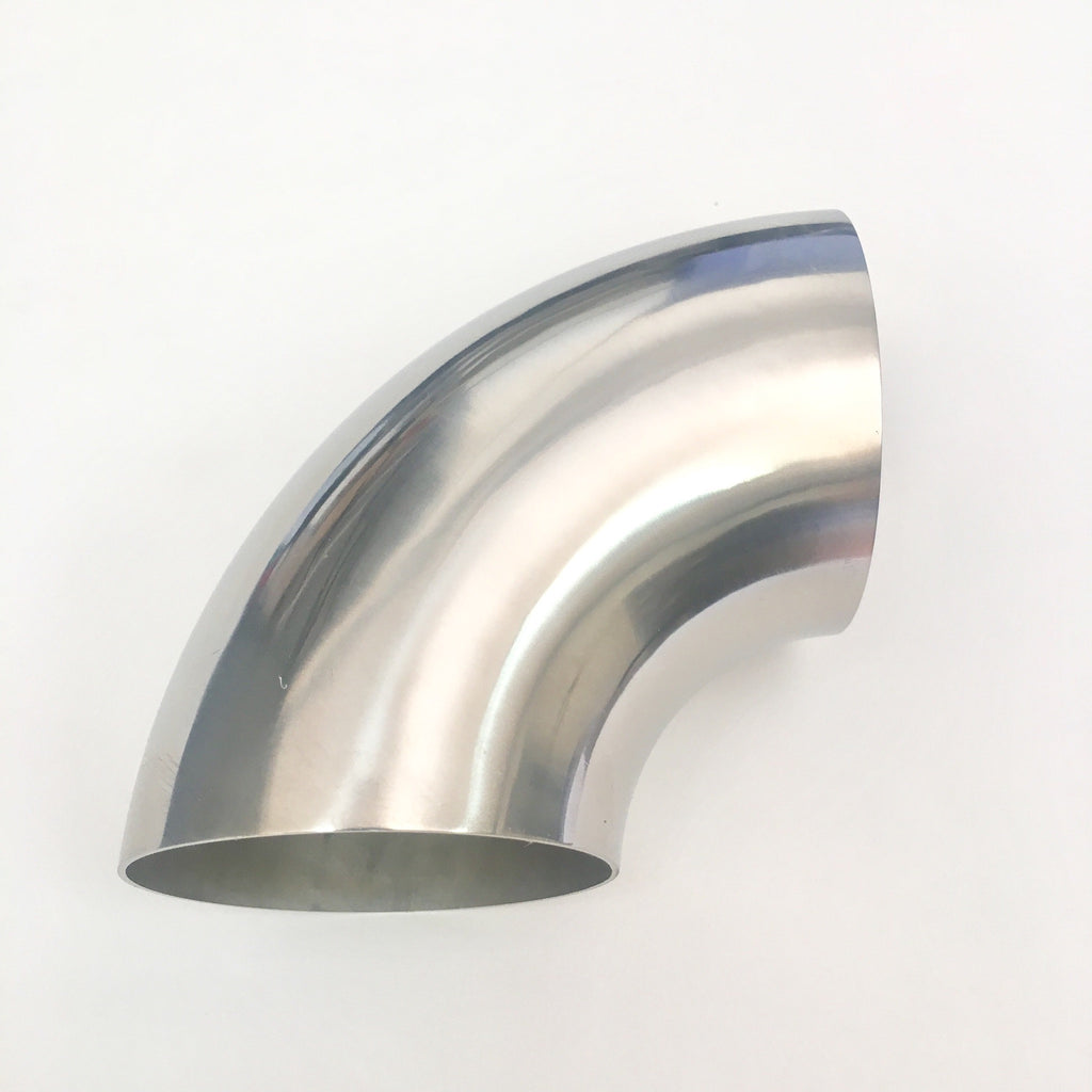 "3.5″ Titanium 90° Elbow  – 1D Radius – 1.5mm/.059"" Wall"