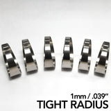 "Titanium Pie Cut - Tight Radius - 1mm/.039"" - 6 Pack (90° Total)"