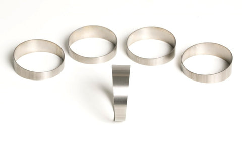 "2″ Titanium Pie Cut – 2D Loose Radius – 1.2mm/.047"" Wall – 5 Pack (45°total)"