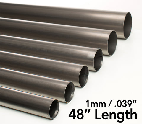 "Titanium Tube 1mm/.039"" - 48"" Length"