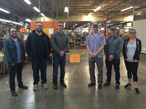 HAVEN team at manufacturing plant