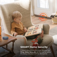 Z-Wave connects to common devices like Ring, Alexa, Vera...etc. so that home safety fits easily into your normal life routine