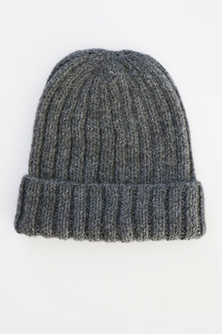 Essential Rib Beanie- Charcoal