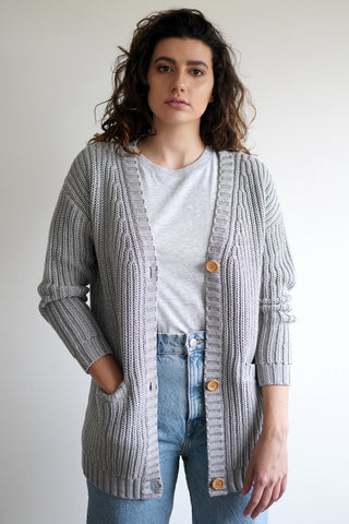 Elizabeth Cardigan - Heather Grey