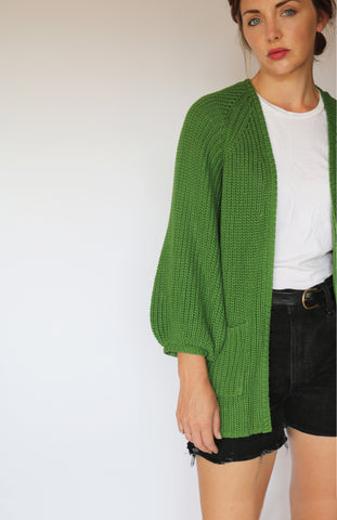 House Cardigan - Haiku Green