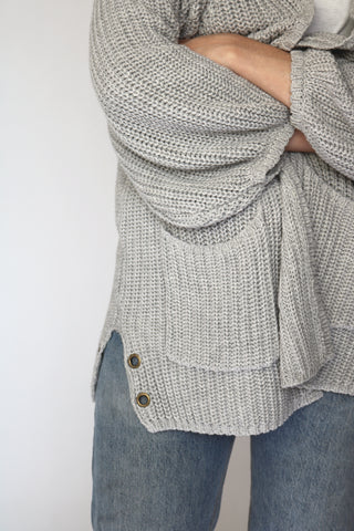 House Cardigan - Heather Grey