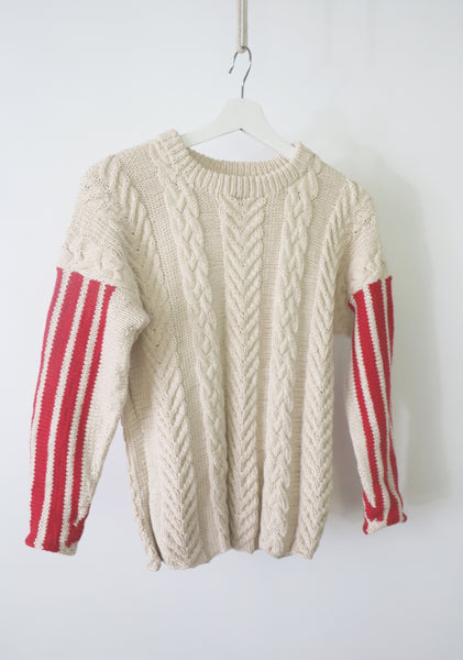 Racing cable sweater