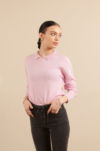 Sunday Collar Sweater- Magic Pink