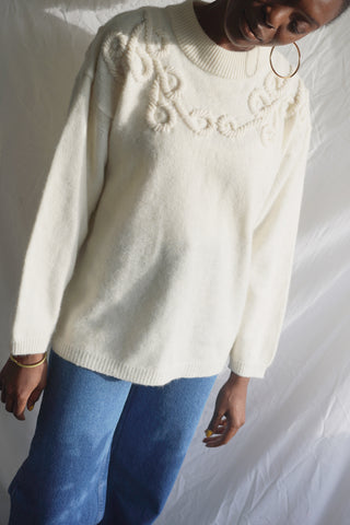 Embroidered Neck Pullover