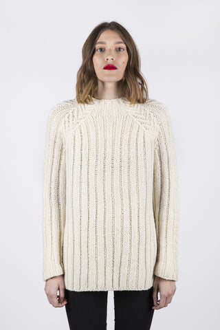 Solana Hand Knit Sweater- Ivory